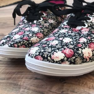 Shoes - Floral Sneakers